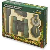Carson AdventurePak Containing 30mm Kids Field Binoculars, Lensatic Compass, Flashlight and Signal Whistle with a Built…