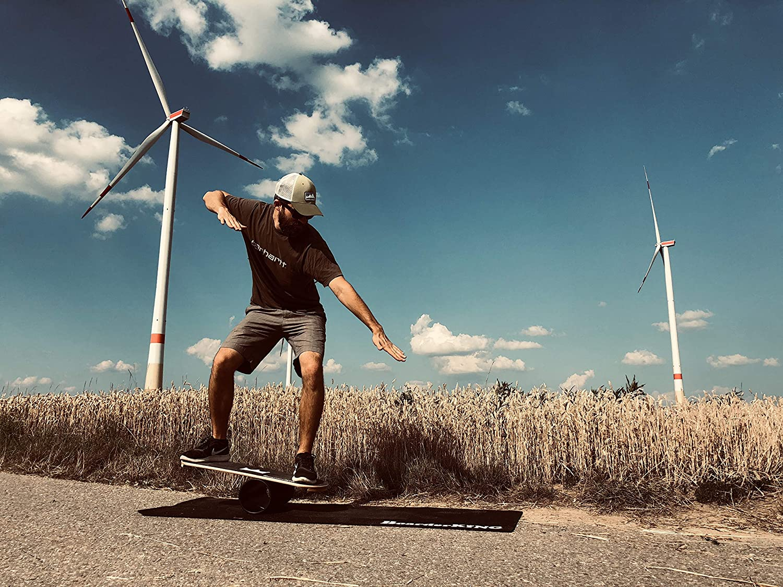 BoarderKING Indoorboard Hawaii Skateboard Surfboard Trickboard Balanceboard surfen im Wohnzimmer