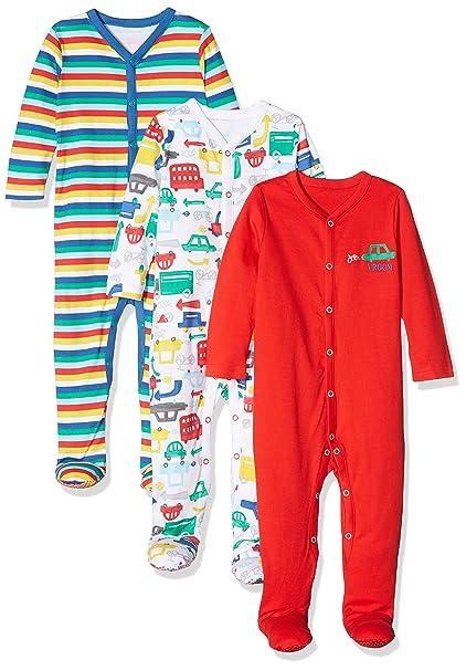 Mothercare Boys Vroom, Pelele para Dormir para Bebés, (Brights Multi 13) Prematuro
