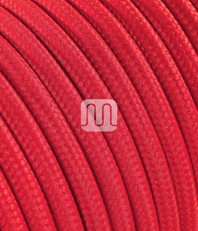 20.405 ROSSO T057 LineteckLED/® Cavo elettrico tondo rivestito in tessuto a tinta unita 3x0.75 /ø 6.4mm blister 3m rosso