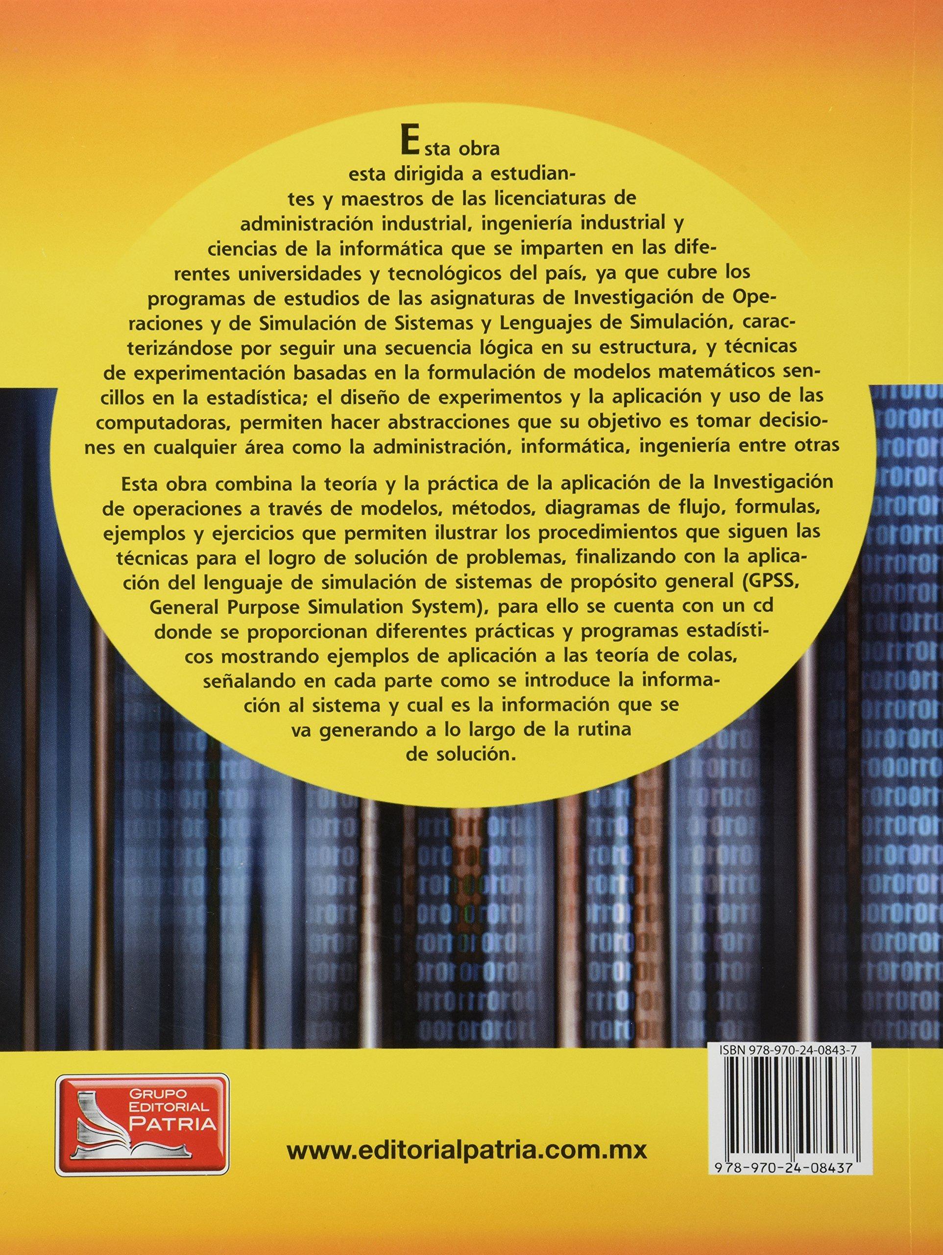Simulacion de sistemas para administracion e ingenieria c cd francisco garcia mora amazon com mx libros