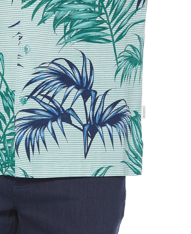 Cubavera Mens Big and Tall Big /& Tall Palm Leaf Print Shirt