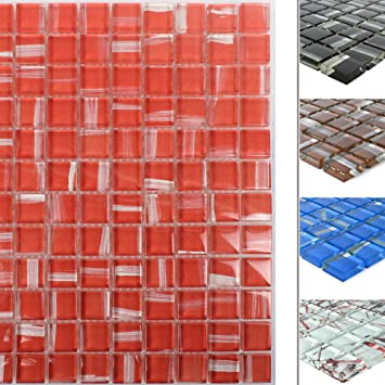Glas Mosaik Ordabay Rot | Wandfliesen | Mosaik-Fliesen ...