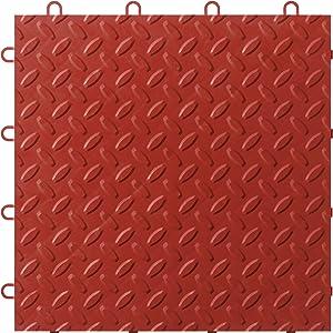 Gladiator GAFT48TTYR Red Floor Tile, 48-Pack