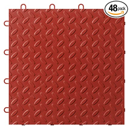 Gladiator Gaft48ttyr Red Floor Tile 48 Pack Ceramic Floor Tiles