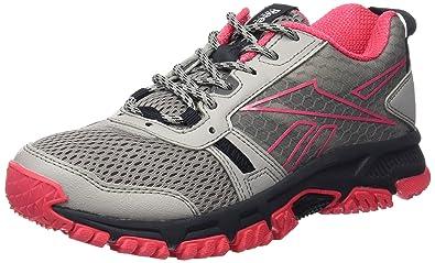 175aed512d Reebok Ridgerider Trail, Women's Running, Gris/Black/Rosa/Blanco (Tin