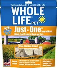 Whole Life Pet Healthy Dog and Cat Treats Value Pack, Human-Grade Whole Chicken Breast, Protein Rich for Training, Picky Eate