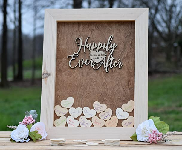 Amazon.com: Wedding Guest Book Alternative - Heart Drop Guest Book ...