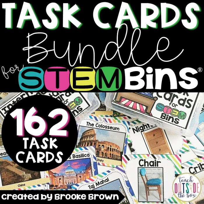 TASK CARDS EXTENSION PACK FOR STEM BINS®/STEAM BINS® for K-5th Grade