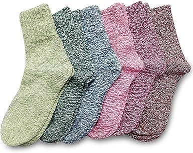 Footfox - 6 pares de lana de algodón gruesa para clima frío, talla ...