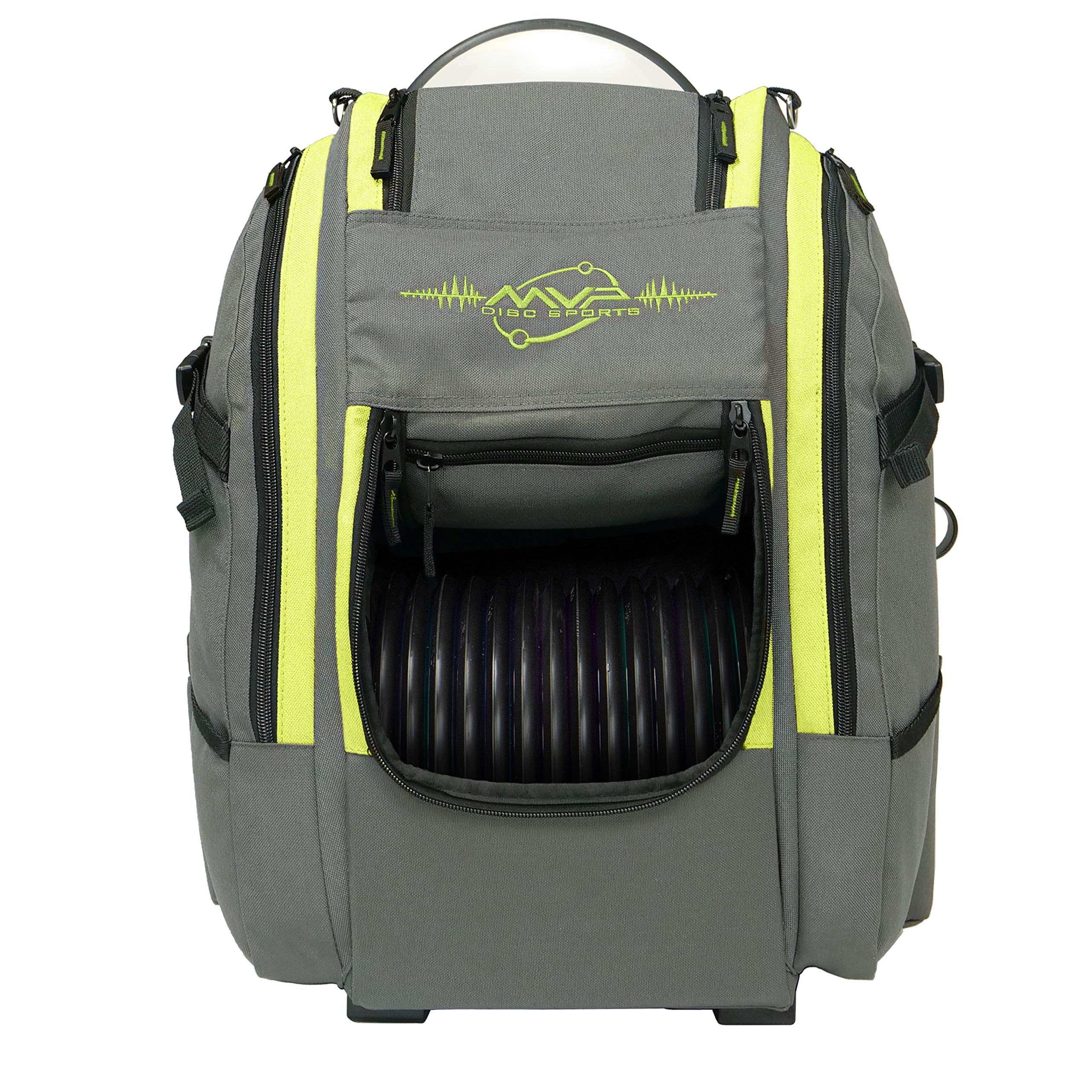 MVP Disc Sports Voyager Slim Bag (Gray/Lime) by MVP Disc Sports