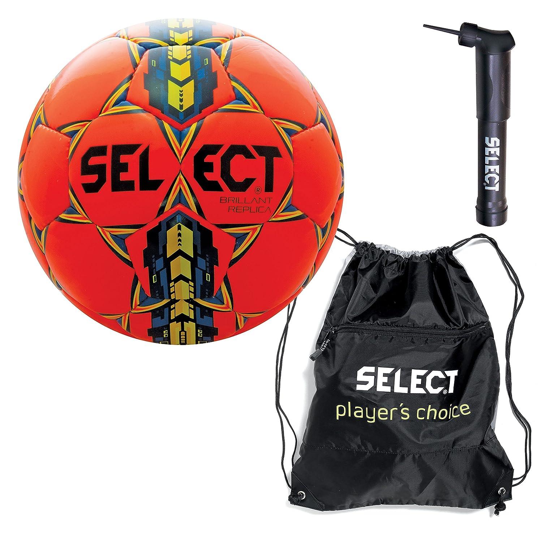 選択Brilliant Superレプリカサッカーボールwith Sack Pack &ハンドポンプ B01M10PYUL Size 5|オレンジ オレンジ Size 5