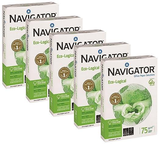 9 opinioni per Navigator Eco-Logical 442974 Carta da stampa riciclata A4, 75 g/m, 5 pezzi x 500
