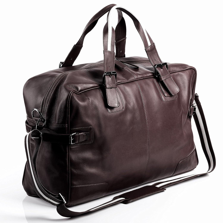 066a837df5 BACCINI borsa da viaggio ROBERTO - borsa da weekend grande - borsa da sport  vera pelle marrone (50 x 32 x 17 cm): Amazon.it: Valigeria