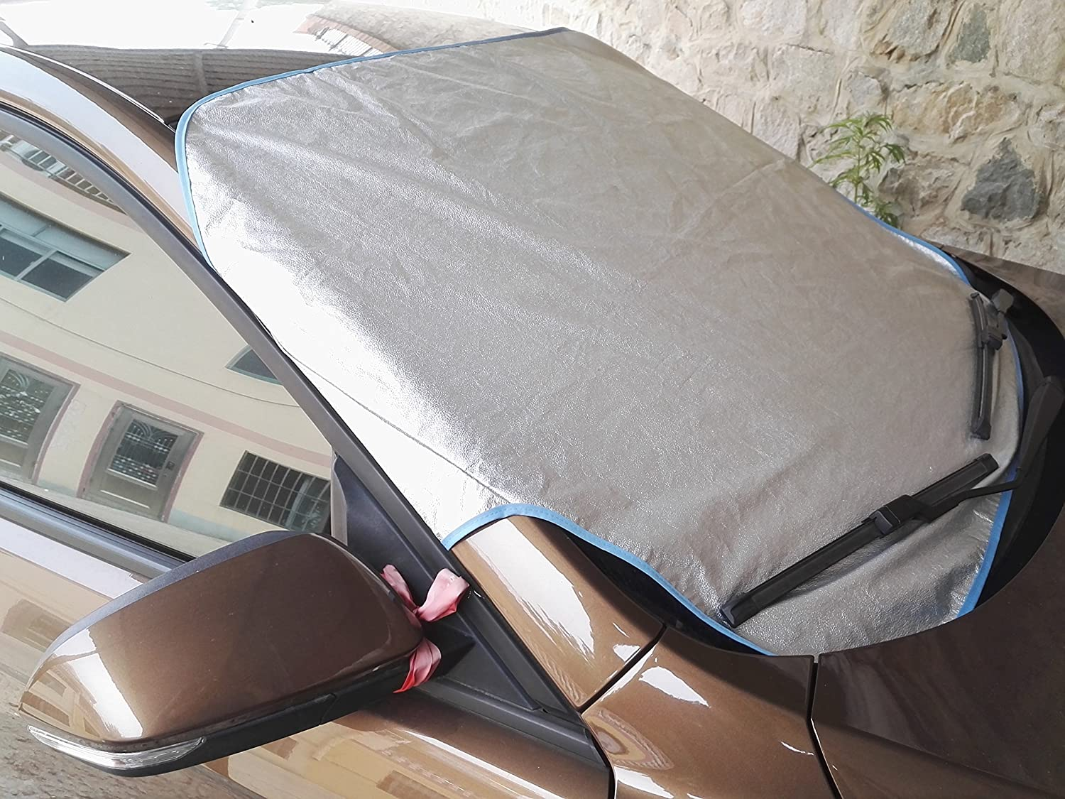3 Layers All Weather Waterproof Fold-able Breathable Universal for Sedan Suv JINNUO Sunshade Car Cover HAOMIAO OUTDOOR Silver
