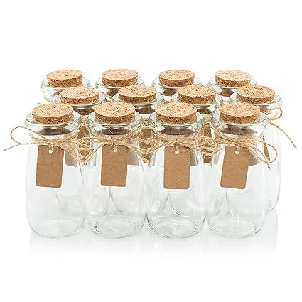 amazon com glass favor jars with cork lids mason jar wedding