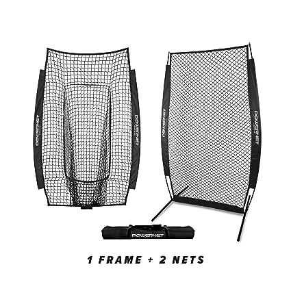 Amazon.com : PowerNet I-Screen w/Frame + Infielder Net Bundle (Black ...