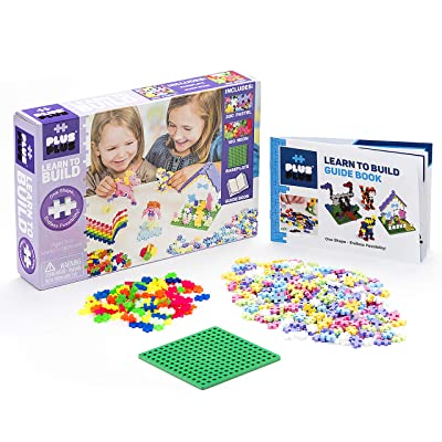 Plus-Plus - Learn to Build Pastel Color Mix, 400 Piece - Construction Building STEM | STEAM Toy, Interlocking Mini Puzzle Blocks for Kids: Toys & Games