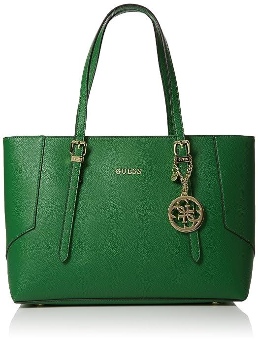 37eca19c54 Guess HWISAPP7286, sac bandoulière femme - Vert - Vert (Verde GRE),  16x27x38 cm (W x H x L) EU: Amazon.fr: Chaussures et Sacs
