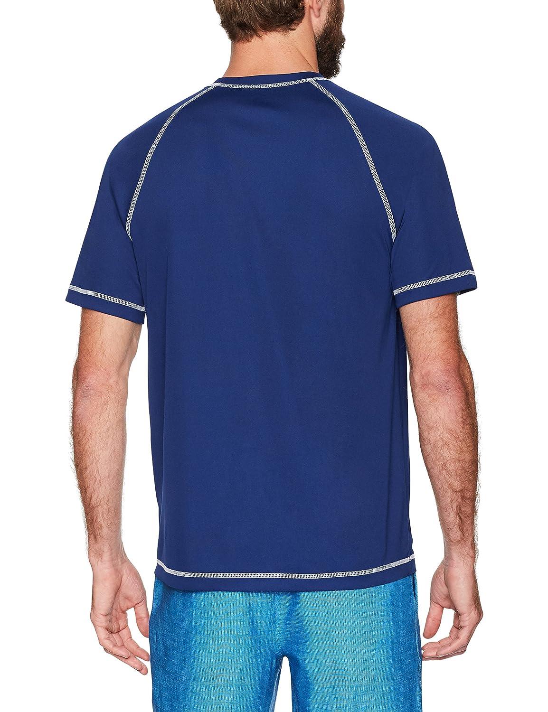 Essentials Mens Short-Sleeve Quick-Dry UPF 50 Swim Tee