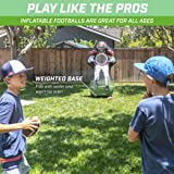 GoSports Inflataman Football Challenge | Inflatable Receiver Touchdown Toss Game