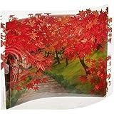 サンリオ 秋カード ポップアップ 透明素材 紅葉シーン P4562