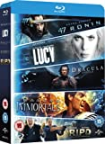 Blu ray 5-Movie Starter Pack: Lucy/Dracula Untold/47 Ronin/Immortals/R.I.P.D [Blu-ray] [2015] [Region Free]