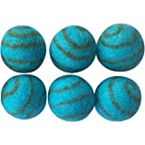 Pet Pizazz 100% Wool Eco-friendly Cat Ferret Small Dog Ball Toy 6-Pack