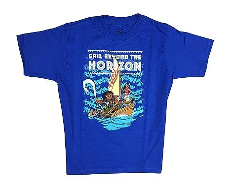 a076b3cf Amazon.com: Maui Disney Moana Boys Toddler T-Shirt, Sail Beyond The ...