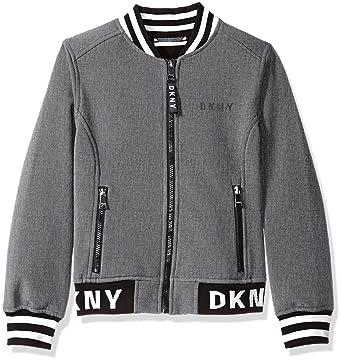ddce7866c DKNY Girls' Big Fashion Softshell Bomber Jacket with Logo Trim