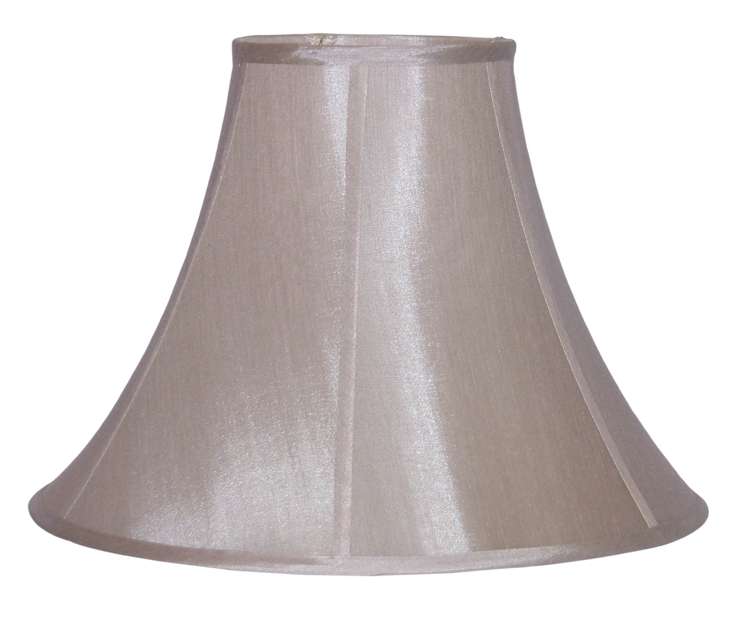 Lamp Factory A Ray Of Light 12'' H Empire Bronze Pongee Silk Bell Lamp Shade