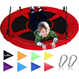 """Royal Oak Giant 40"""" Saucer Tree Swing with Bonus Carabiners and Flags, 400 lb Weight Capacity, Steel Frame, Waterproof…"""