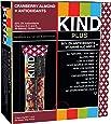 KIND Bars, Cranberry Almond + Antioxidants, Gluten Free, 1.4 Ounce Bars, 12 Count