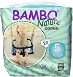 Bambo Nature Eco Friendly Baby Training Pants Classic for Sensitive Skin, Size 5 (26-44 lbs), 20 Count