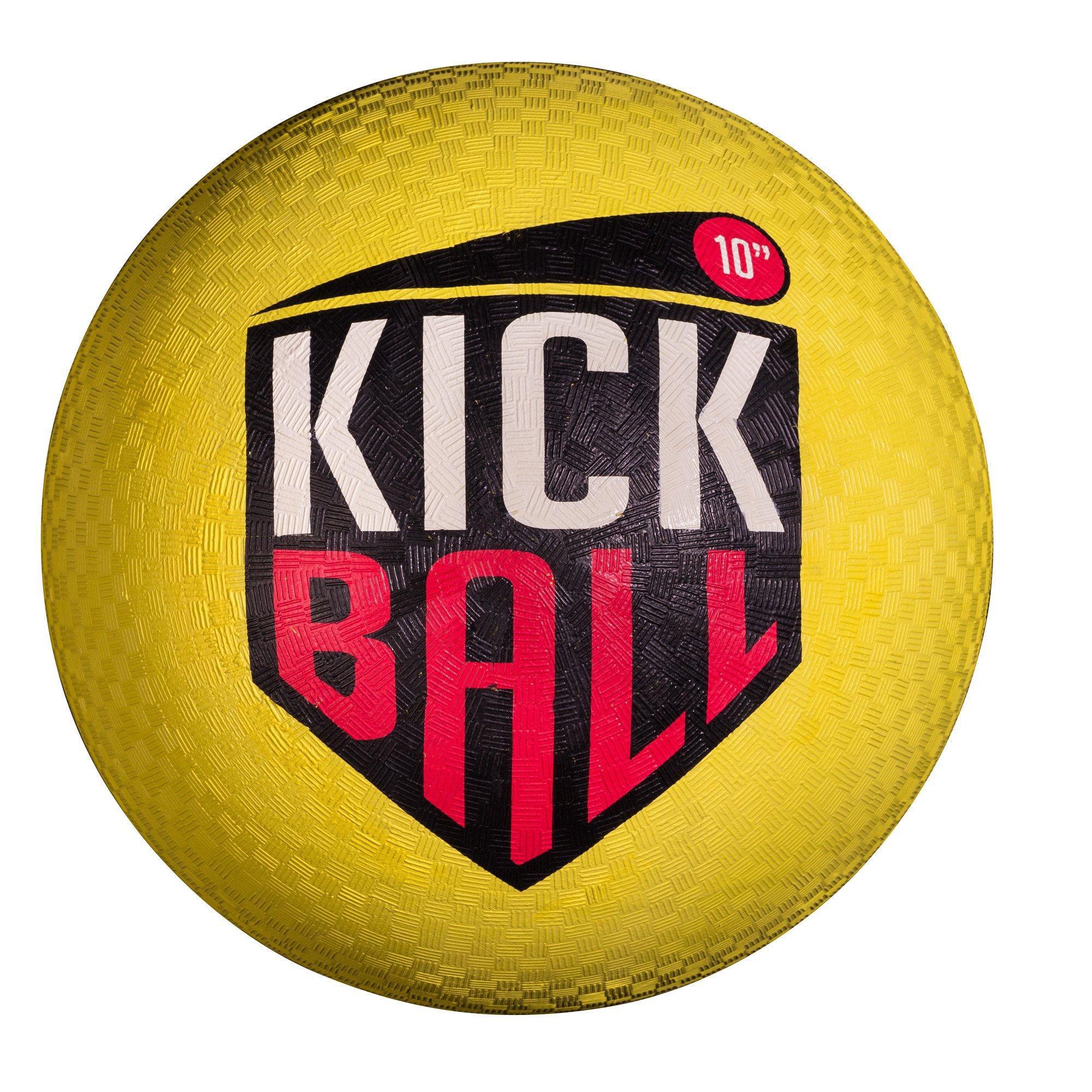 Franklin Sports Rubber Kickball - Yellow, 10'' by Franklin Sports