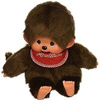 Sekiguchi Monchhichi Original marioneta de Mano Boy Overol de Peluche con Rojo Babero