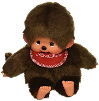 Sekiguchi Monchhichi – Muñeco original marioneta de mano Boy mono de peluche con babero, color