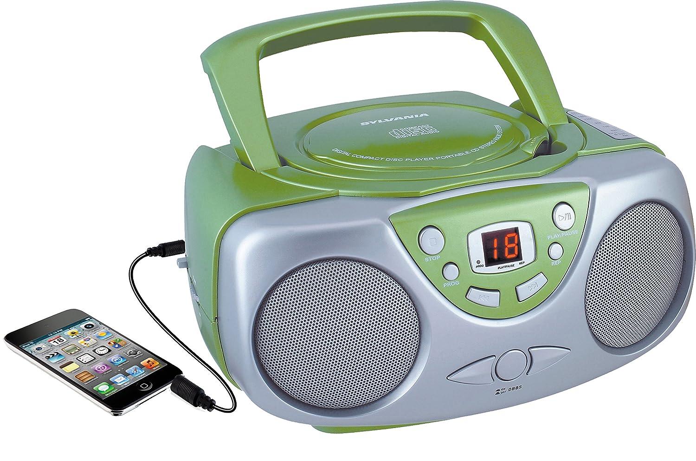 sylvania srcd243 portable cd player with am fm radio. Black Bedroom Furniture Sets. Home Design Ideas