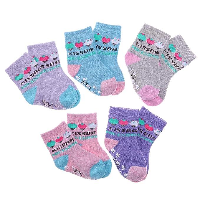 RATIVE 12-Pack Cotton Crew Socks for Unisex Baby Infant Toddler Kids Boys Girls