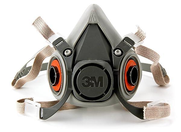 3M Half Facepiece Reusable Respirator 6200/07025(AAD), Respiratory Protection, Medium(Pack of 1)