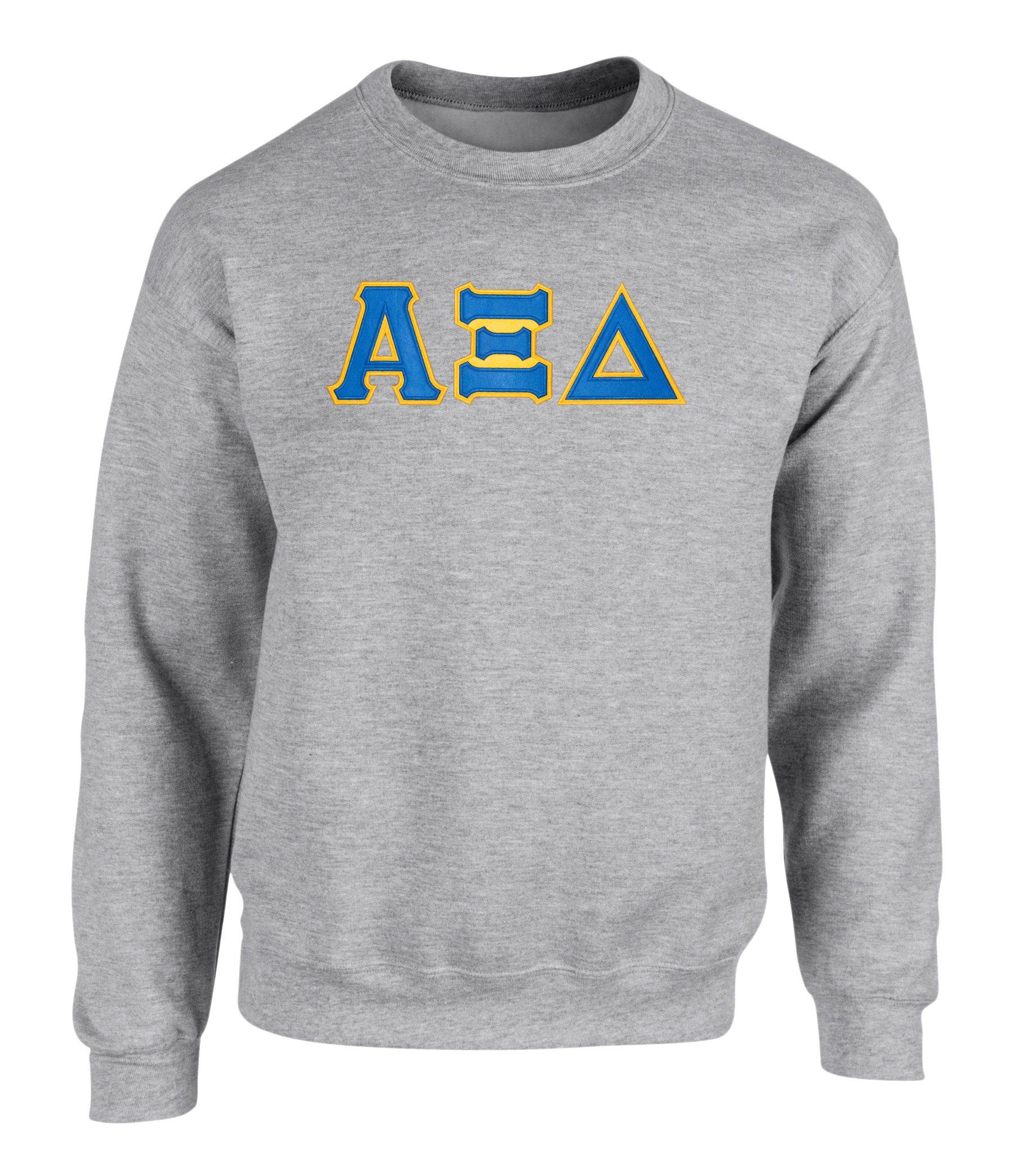 Alpha Xi Delta Twill Letter Crewneck 5370 Shirts