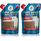 Beef Bone Broth by Bare Bones – 100% Grass-fed, Organic, Beef Bone Broth, Protein/Collagen-rich, 16 oz (2-pack)