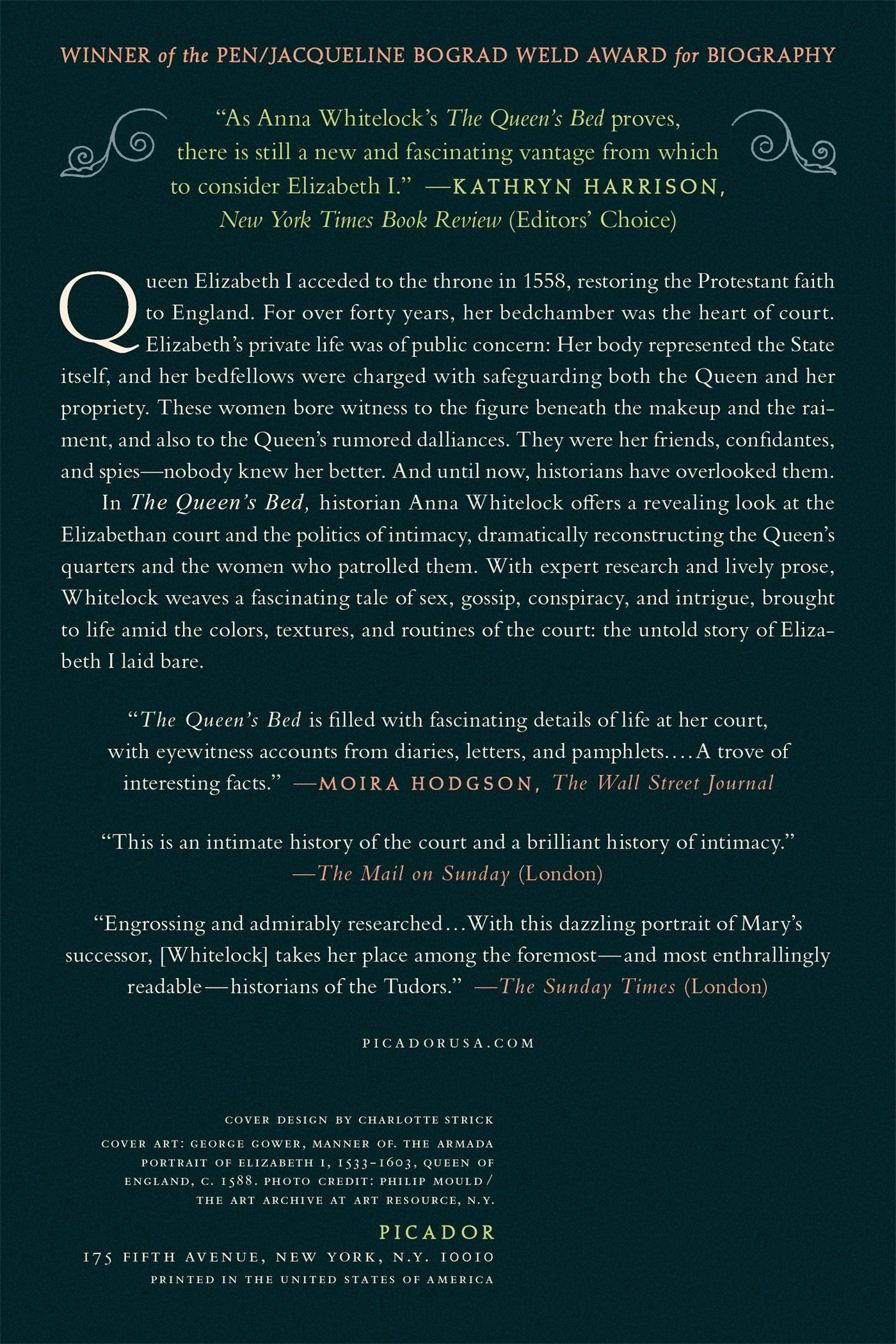 The Queen's Bed: An Intimate History of Elizabeth's Court: Anna Whitelock:  9781250062307: Amazon.com: Books