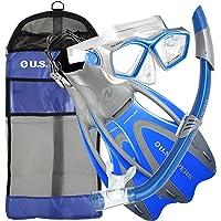 EE. UU. Divers - Máscara de Icono para Adulto/Snorkel Seabreeze/Proflex, talón Abierto