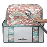 Compactor Classic Space Saver Vacuum Storage Solution with Vacuum Bag to protect Clothes, Pillows, Duvets, Comforters, Blankets - XXL (26x20x11)