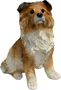 Michael Carr Designs 80107 Sheep-Collie Puppy Statue, Large