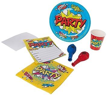 Casa de fiesta bpwfa-3902 WOW Party - Juego de mesa (para 16 ...