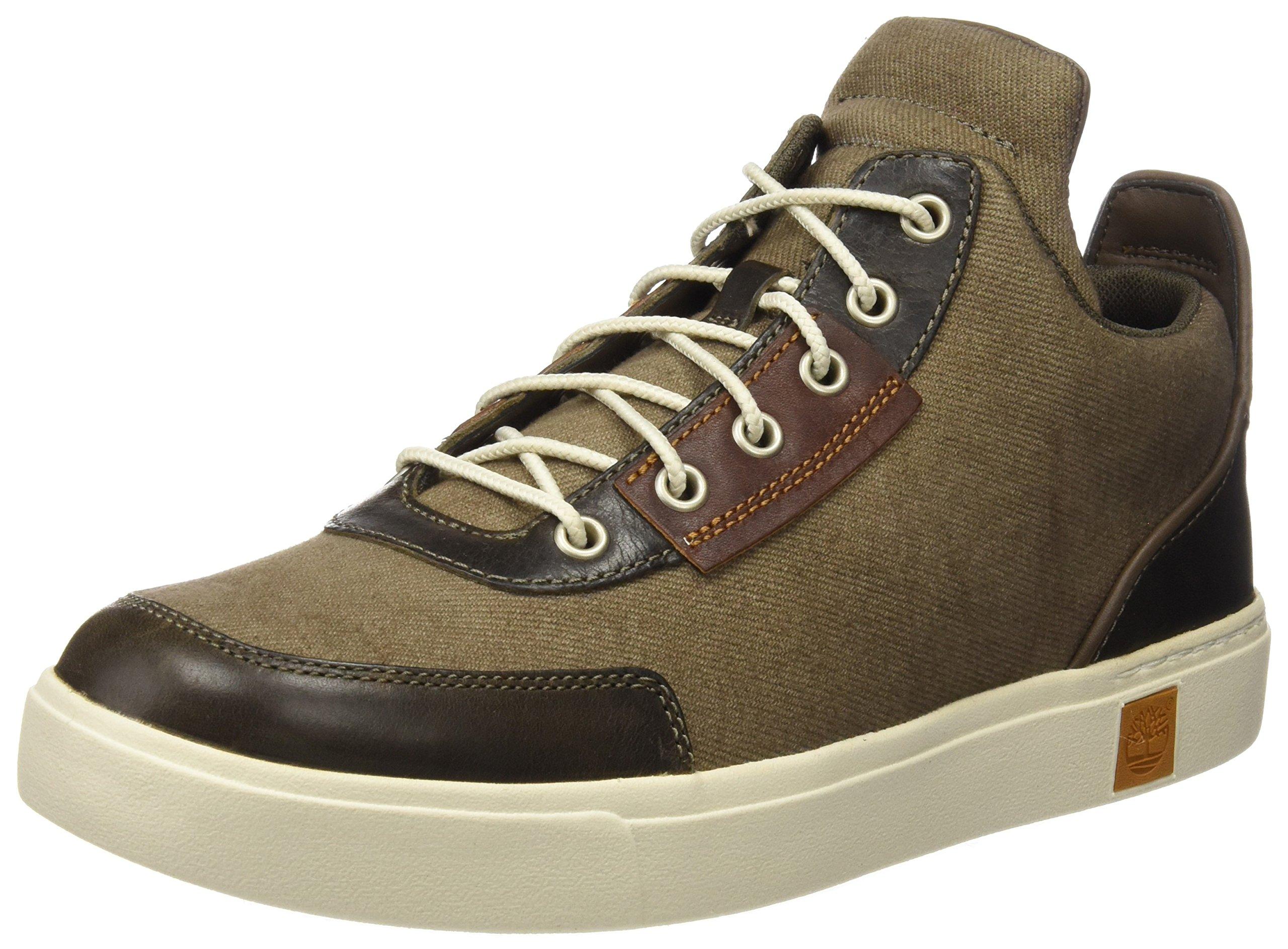 Timberland Men's Amherst Chukka Fashion Sneaker, Canteen Cotton Canvas, 9.5 M US