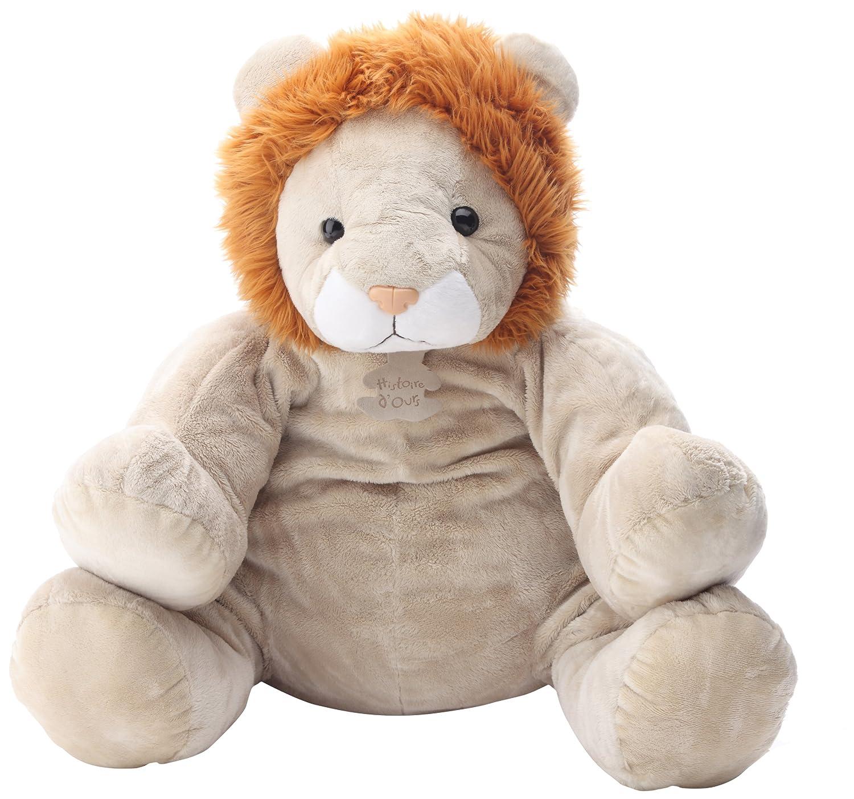 Histoire d'ours Peluche, diseño de león marrón marrón, naranja, blanco, beige, multicolor Talla:Mediana