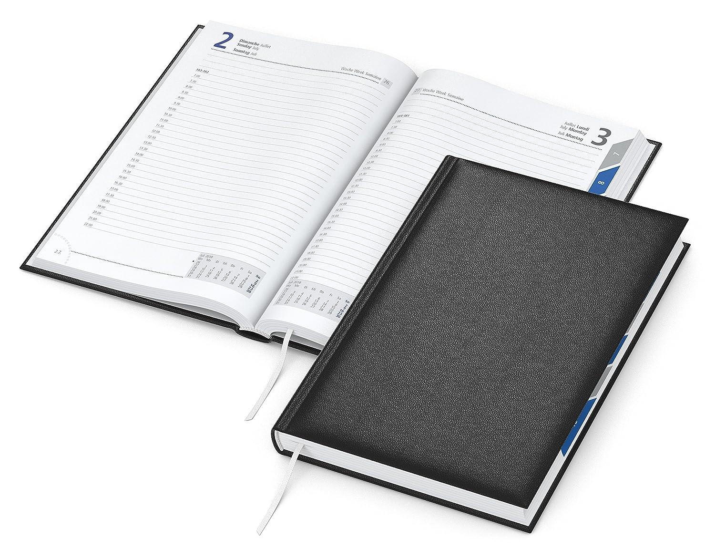 DIN A5 Format mit Monats-Registerstanzung Manager Register -Buchkalender 2020 Premium-Cheftimer 416 Seiten je Tag 1 Seite geiger notes